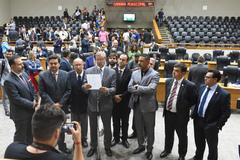 Votação do projeto que altera estatuto dos servidores municipais. Na foto: