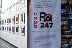 Exposição fica até o dia 12 de abril no andar térreo da Câmara
