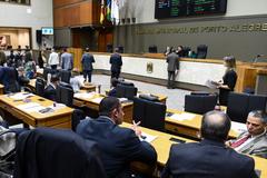 Plenário Otávio Rocha na sessão desta segunda-feira