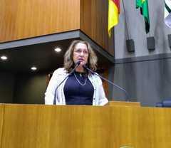 Vereadora Lourdes no Plenário