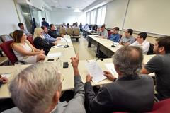 Reunião para debater o transporte público em Porto Alegre.