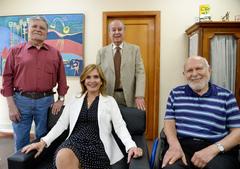 Villela, Soares e Dib com a vereadora Mônica Leal