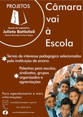 Programas são realizados na própria escola ou na Câmara Municipal