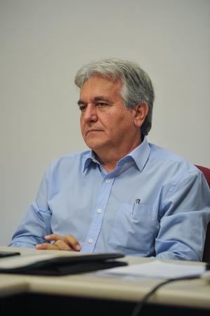 Reunião para discutir a situação de abandono do Vivieiro Municipal de Porto Alegre. Na foto, o Vereador, Nelsir Tessaro.