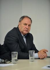 Reunião para discutir a situação de abandono do Vivieiro Municipal de Porto Alegre. Na foto, o Vereador, Paulo Brum.