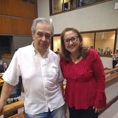 Vereadora Lourdes e sr. Luiz Santana da ONG Bicho de Rua