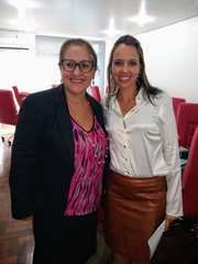 Vereadora Lourdes e a Chefe de Polícia do RS Nadine Anflor