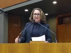 Vereadora Lourdes na Tribuna em 22 de abril