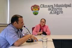 Vereadora Lourdes Sprenger na reunião da Cedecondh sobre segurança