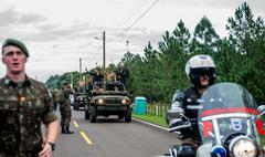 Festa Nacional da Cavalaria em comemoração ao 211º aniversário de nascimento de Marechal Osório, Patrono da Arma de Cavalaria. Na foto, o  vice-presidente da República, Hamilton Mourão.