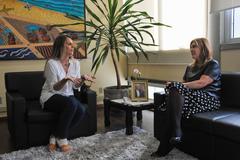Fernanda (e) apresentou proposta a Mônica Leal