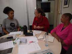 Vereadora Lourdes reunida na Procuradoria Especial da Mulher
