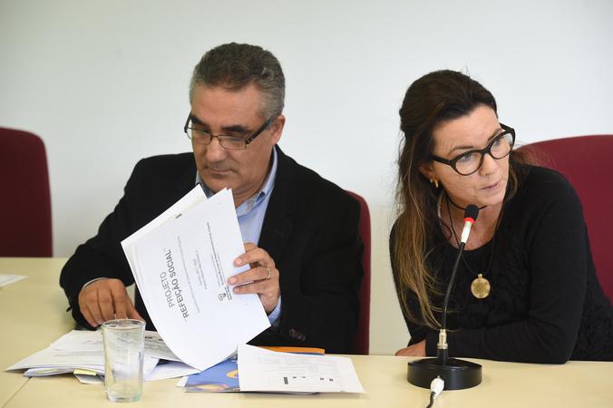 Restaurante Popular. Na foto: Diretor Geral de Direitos Humanos da Prefeitura Dario Pereira e nutricionista Vanuza Rosa.