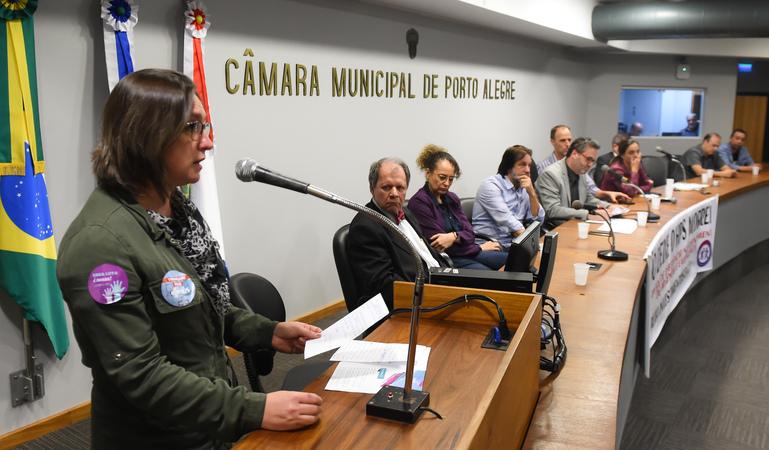 Lançamento da Frente Parlamentar em Defesa do Hospital de Pronto Socorro (HPS), proposição do gabinete do vereador Roberto Robaina