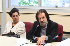 Reunião sobre a conclusão da reforma das salas da EMEI Dr. Walter Silber, segundo emenda aprovada na LOA. Na foto, vereador Aldacir Oliboni, autor da emenda