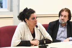 Reunião sobre a conclusão da reforma das salas da EMEI Dr. Walter Silber, segundo emenda aprovada na LOA.