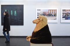 Um dos espaços de exposição na edição anterior, realizada há dois anos