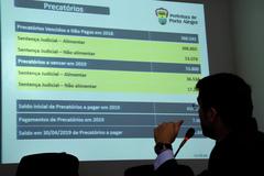 Audiência Pública para demonstração e avaliação, pelo Poder Executivo, do cumprimento das Metas Fiscais do 1º quadrimestre de 2019.  Na foto, o Secretário Municipal da Fazenda, Leonardo Busatto.