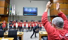 Vereadores participam do Dia do Desafio