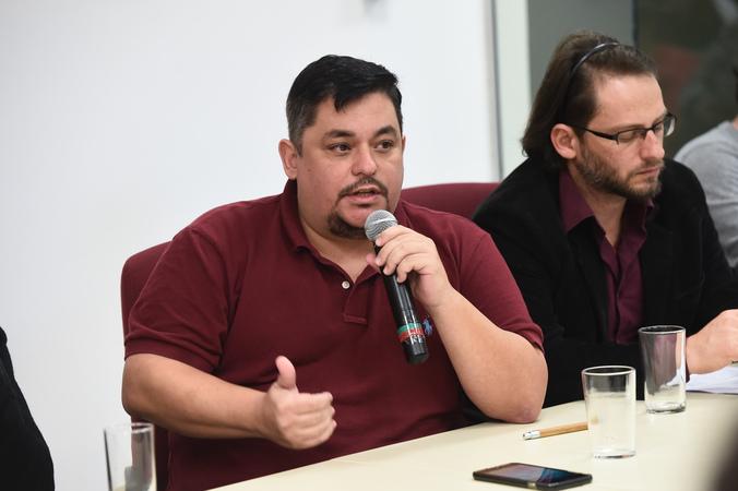 Reunião sobre os espaços municipais da cultura. Na foto, Leonardo Marticato, secretário adjunto de Cultura