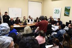 Reunião no auditório da Bom Jesus reunião moradores da região