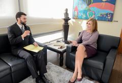Jacobsen foi recebido por Mônica Leal, presidente da Câmara Municipal