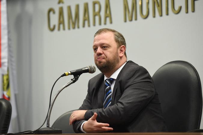 Comissão realiza Seminário Desastres Ambientais e Reflexos Urbanos. Na foto, o vereador André Carús.