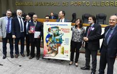 Semana do Imigrante, com a participação do Fórum Permenente de Mobilidade Urbana RS. Na foto: vereadores e dirigente da entidade