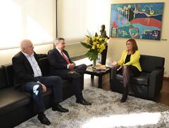 Presidente Monica Leal recebe representantes da Nova Politica.