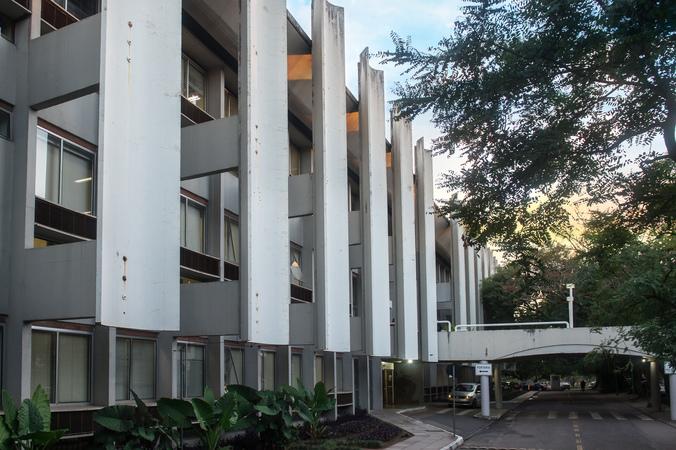 Fachada da Câmara Municipal. Palácio Aloísio Filho.