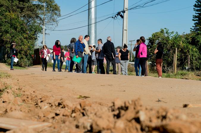 Comissão visita a Visita a comunidade Campo Novo.