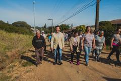 Comissão visita a Visita a comunidade Campo Novo. Na foto, o vereador Valter Nagelstein