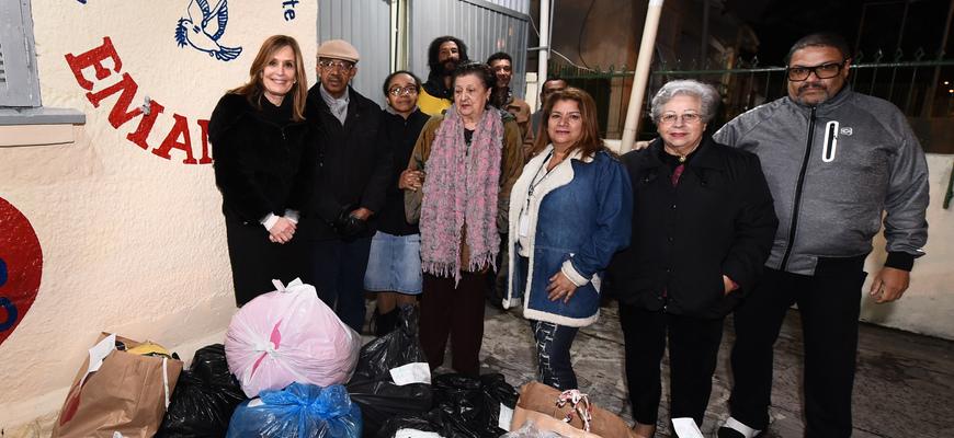 Presidente (e) acompanhou a entrega das doações
