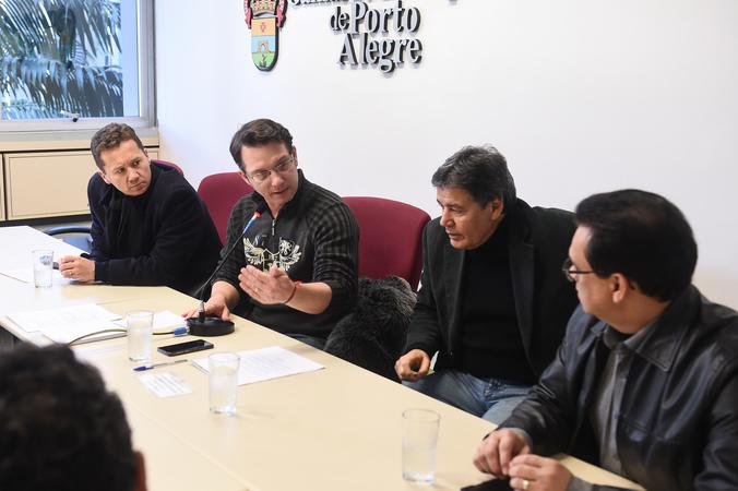 A situação da Educação de Jovens e Adultos (EJA) na rede municipal. Vereadores Mauro Zacher, Professor Alex Fraga, Cassiá Carpes e Alvoni Medina (Foto: Ederson Nunes/CMPA)