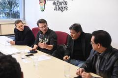 A situação da Educação de Jovens e Adultos (EJA) na rede municipal. Vereadores Mauro Zacher, Professor Alex Fraga, Cassiá Carpes e Alvoni Medina