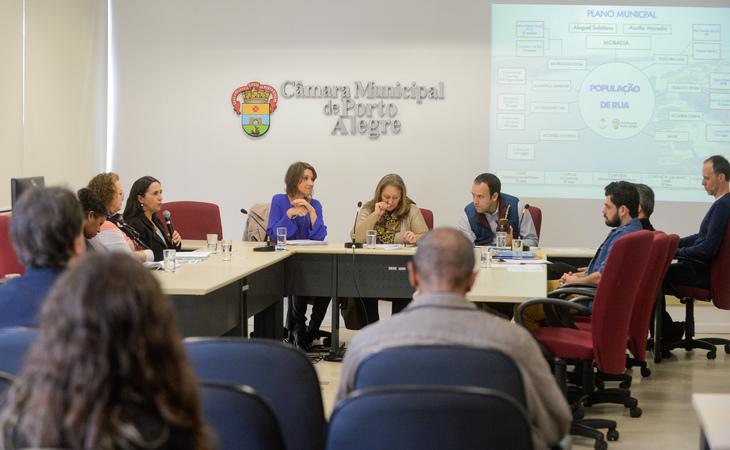 Comissão debate a situação dos moradores de rua da Capital.