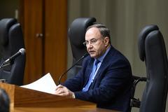 Presidente em exercício, vereador Paulo Brum