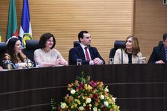 Presidente (à direita na foto) prestigiou cerimônia no MPF/RS