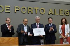Sessão Solene de outorga do Título de Cidadão de Porto Alegre ao Senhor Jefferson Luis Braga da Silva.