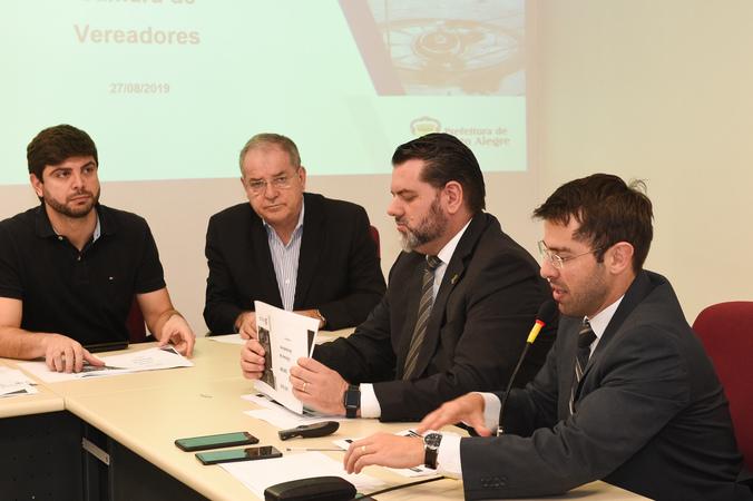 Comissão realiza distribuição e votação de pareceres e promove Audiência Pública para debater as Diretrizes Orçamentárias de 2020 para o Município de Porto Alegre. Com a fala, o Secretário Municipal da Fazenda, Leonardo Busatto.