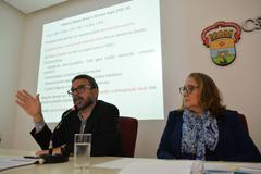 Economista Marcelo Portugal e vereadora Lourdes Sprenger (MDB)