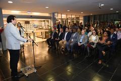 Carlos Weiss, do Museu do Holocausto de Curitiba/PR, participou da abertura do evento