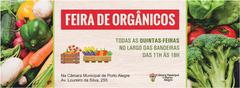 Banner de divulgação da Feira de Orgânicos.