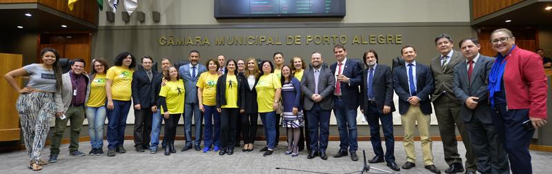 Divulgação da campanha Setembro Amarelo, de valorização da vida e prevenção do suicídio.