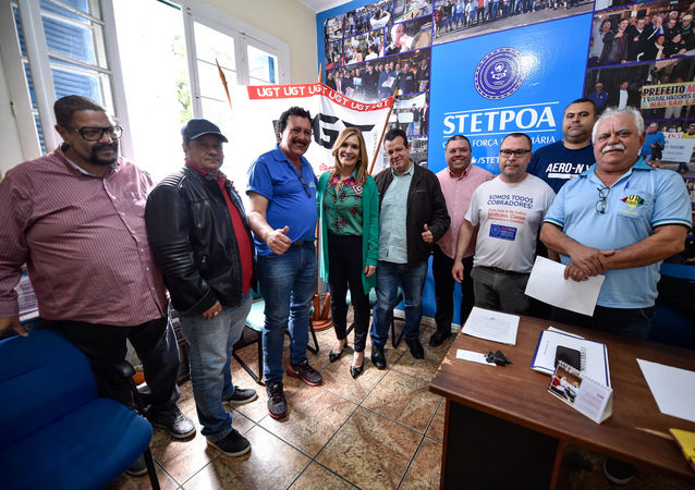 Presidente Mônica Leal participa de reunião com o Sindicato dos Rodoviários.