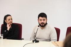 Reunião conjunta Cece e Cosmam para debater proposta de campanha de divulgação científica e ambiental nos ônibus. Na foto, representante da EPTC ao microfone