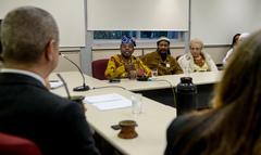 Comissão discute PPP de Culto de Matrizes Africanas APOAXÉ. Na foto, com a fala, Pai Paulinho de Xoroquê.