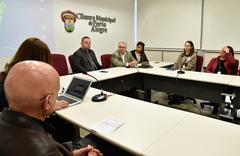 Comissão Especial dialoga com PGM sobre o levantamento dos Prédios Abandonados em Porto Alegre.