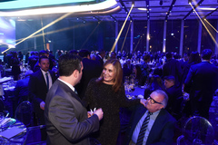 Presidente Mônica Leal comparece a jantar de comemoração dos 116 anos do Grêmio.