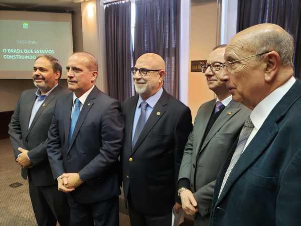 Vereador Reginaldo Pujol acompanhou visita do Ministro da Casa Civil Onyx Lorenzoni